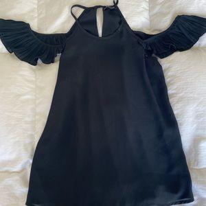 Shinestar Medium Black top off shoulder  Ruffles